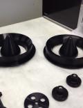 Turbine flow testing nozzles